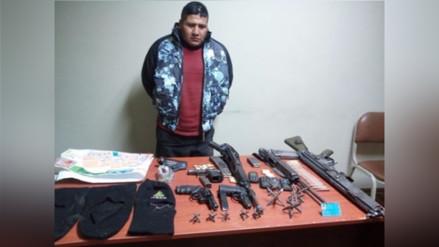 Capturan a integrante de organización criminal con armamento