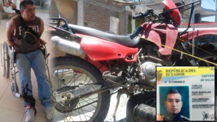 Extranjeros motorizados se enfrentan a la policía en Suyo