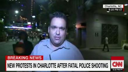 YouTube: periodista de CNN es agredido durante protestas en Carolina del Norte
