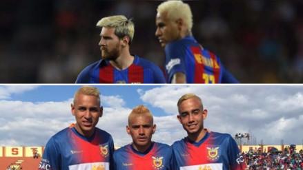 Jugadores de la Copa Perú copiaron el 'look' a Lionel Messi y Neymar