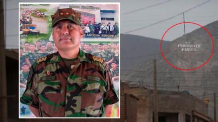 El nuevo jefe de la Diroes ordenó a policías que coloquen su nombre en un cerro
