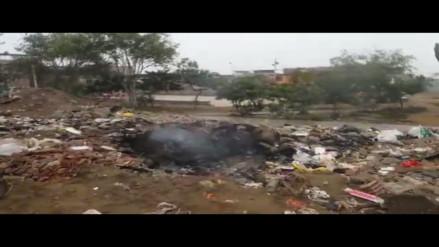 Arrojan y queman basura en parque del sector II de VES