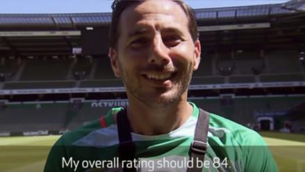 YouTube: Claudio Pizarro no está de acuerdo con su puntaje de FIFA 17