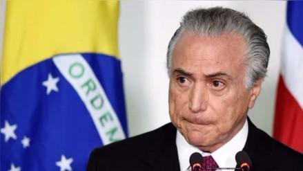 Corte de Brasil autoriza una investigación preliminar contra Michel Temer