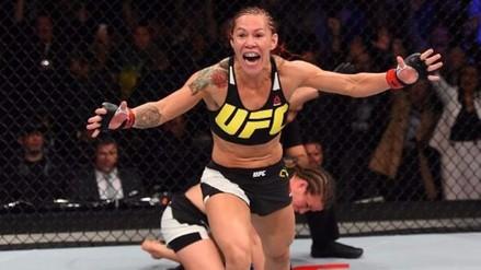 UFC: Cris Cyborg derrotó a Lina Lansberg con este brutal recto