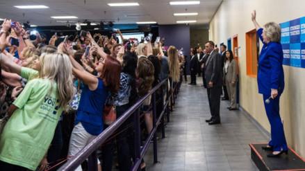 Twitter: la foto más comentada de Hillary Clinton previo al debate de este lunes