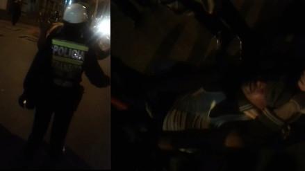 Un sujeto ebrio agredió a una mujer policía en el Cercado de Lima