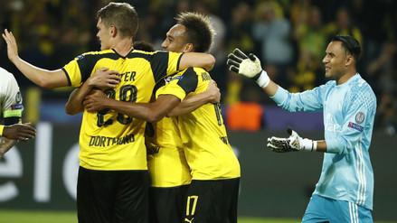 Keylor Navas fue responsable en uno de los goles del Borussia Dortmund