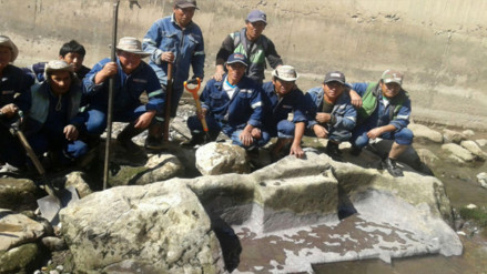 Ollantaytambo: evidencian altar inca en riberas del rio Vilcanota