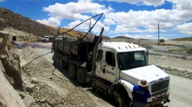Registran nuevo derrame de concentrados de cobre en Espinar