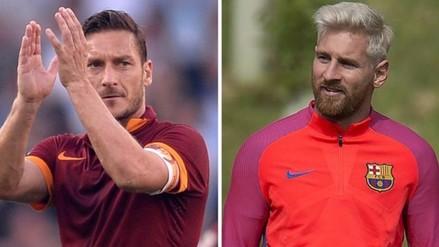 Lionel Messi saludó a Francesco Totti por su cumpleaños