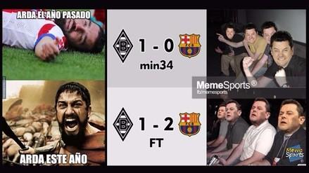 Memes se burlan del Barcelona y su triunfo sobre el Borussia Mönchengladbach