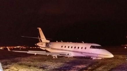El avión de Cristiano Ronaldo chocó en Barcelona