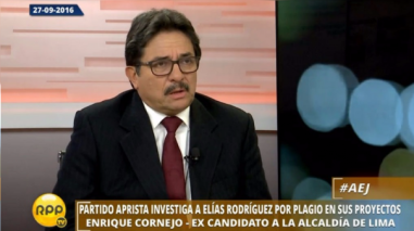 Enrique Cornejo plantea cuatro medidas para renovar el Partido Aprista