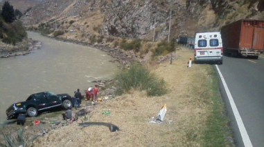 Despiste de camioneta deja dos heridos en Jauja