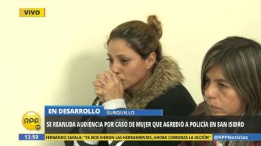 Dos años y 11 meses de prisión suspendida para mujer que agredió a policía