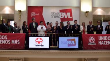 Teletón 2016 inició con el tradicional campanazo en la BVL