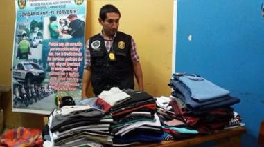 Chiclayo: decomisan ropa de contrabando por más de 10 mil soles