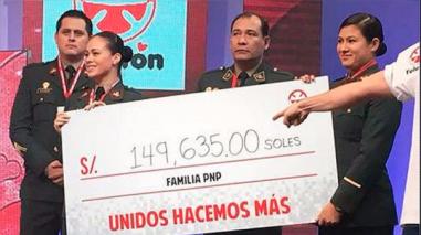 Teletón 2016: La Policía Nacional del Perú donó una suma siete veces mayor a la del Congreso