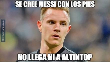 Ter Stegen protagoniza los memes de la derrota del Barcelona ante Celta de Vigo