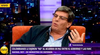 """Rafael Rey: """"Álvaro Uribe es el gran héroe colombiano de plebiscito"""""""