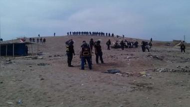 Desalojan a invasores que ocupaban terreno en Chancay