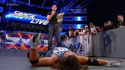 Dean Ambrose cogió el cinturón de la WWE a pocos días de No Mercy