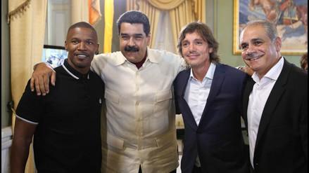 Twitter: Nicolás Maduro recibió en Venezuela al actor Jamie Foxx