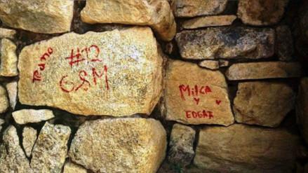 """Desconocidos pintaron muro de """"Recinto de doce Vanos"""" en Machu Picchu"""
