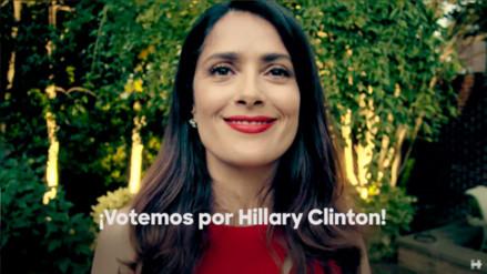 YouTube: Salma Hayek pide a los latinos de EE.UU. que voten por Hillary Clinton