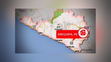Dos sismos de moderada intensidad se registraron en Arequipa
