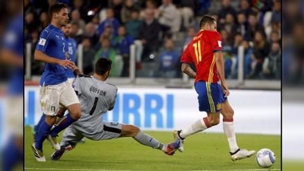 Por blooper de Gianluigi Buffon: Italia igualó 1-1 ante España