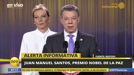 Juan Manuel Santos dedicó el Premio Nobel a todos los colombianos