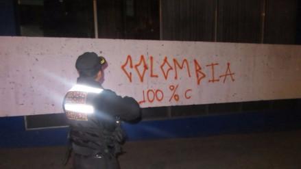 Colombiano realizó pintas en el centro histórico de Arequipa