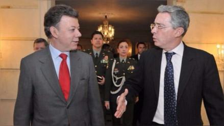 Álvaro Uribe felicitó a Juan Manuel Santos por su premio Nobel de la Paz