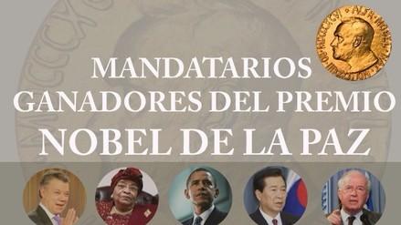 Conozca a los 25 presidentes que ganaron el premio Nobel de la Paz