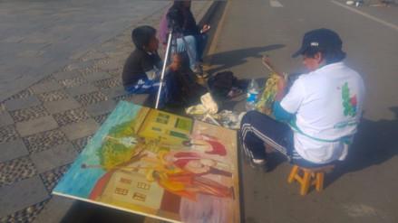 Cerca de 400 pintores participaron del VI concurso de pintura en Cajamarca