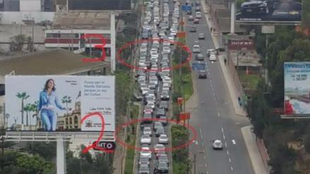 Una foto de una transitada avenida de Lima se vuelve viral en Facebook
