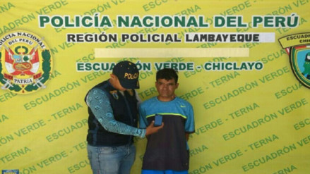 Chiclayo: Por enésima vez capturan a arrebatador de celulares