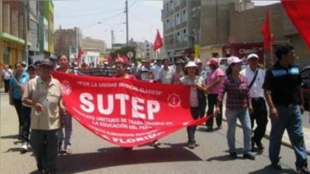 Docentes del Sutep San Martín acatarán paro de 72 horas
