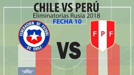 Así llegan Perú y Chile al Clásico del Pacífico por la fecha 10 de las eliminatorias