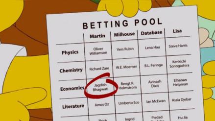 'Los Simpson' predijeron a los ganadores del Nobel de Química y de Economía