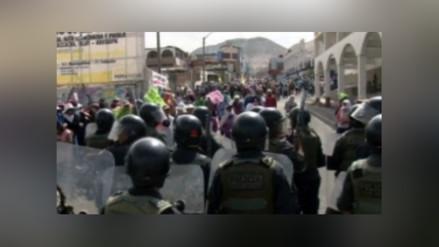 Sechura: pobladores y policías se enfrentaron durante asamblea comunal