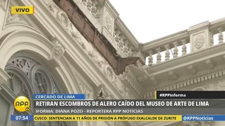 Se desplomó parte del frontis del Museo de Arte de Lima