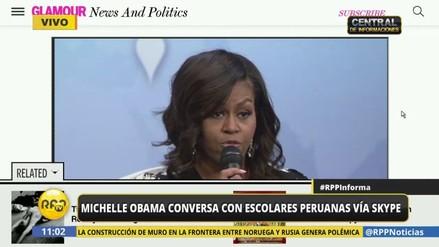 Michelle Obama conversó con escolares peruanas por el Día de la Niña