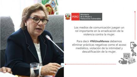 Facebook: Ministerio de la Mujer hace este pedido a los medios de comunicación