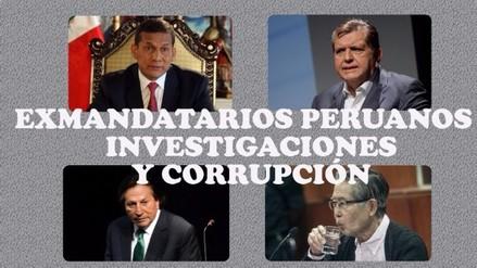¿En cuántas investigaciones estuvieron envueltos los últimos presidentes del Perú?
