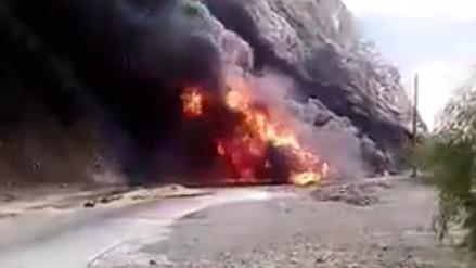Jaén: un muerto dejó explosión de cisterna que transportaba combustible