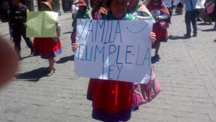 Pobladores de Caylloma realizan plantón en el gobierno regional
