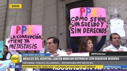 Con un plantón, médicos rechazan la corrupción y piden más presupuesto